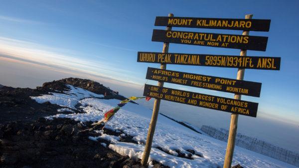Kilimanjaro-Summit-Sign-Sunrise